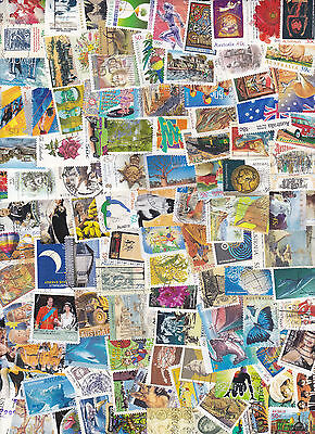 Bulk lot Australian used collection stamps x100 all different good mix