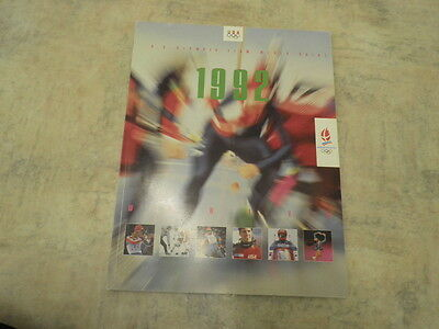 Very Rare 1992 Albertville USA Winter Olympic Team Media Guide Excellent Cond