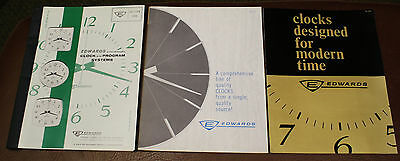 EDWARDS SYNCHROMATIC CLOCK & PROGRAM SYSTEMS Commercial CATALOG & BROCHURE 1964