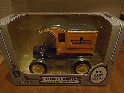 CASE  1905 Delivery Car Diecast  Yellow ERTL Truck  Bank  1987