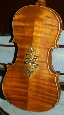 Very pretty full size 19TH century violin with case & 2 bow