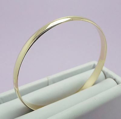 9Ct Yellow Gold Solid Round Bangle  17.09 Grams