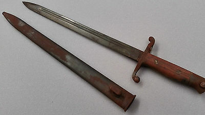 WW1 Antique Collectalbe German Military Bayonet With Steel Scabbard