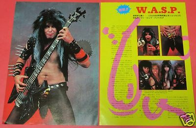 W.a.s.p. Blackie Lawless 1984 Clipping Japan Magazine Ml 8A 2Page
