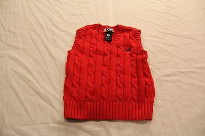 Ralph Lauren Chaps Toddler Boys Sweater Vest!  Red!  Size 2T!