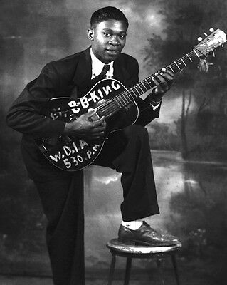 1950s Blues Soul Singer BB KING Glossy 8x10 Photo Music Guitarist Print Poster