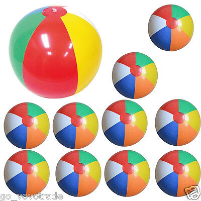 10PC 25CM Inflatable Swimming Pool Play Party Water Game Balloon Beach Ball Toy