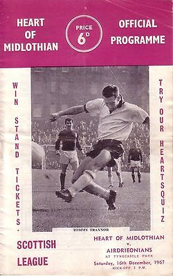 HEARTS v AIRDRIE 1967/68 LEAGUE