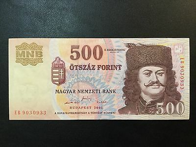 2001 Hungary Paper Money - 500 Forint Banknote !