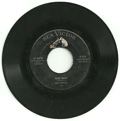 Elvis Presley - Original Blue moon RCA single from the USA.