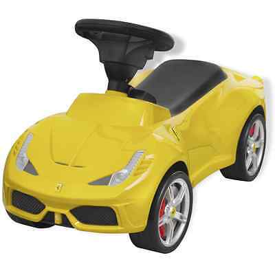 S# Licensed Ferrari 458 Ride-on Push Car Foot-to-Floor Toddler Walker Toy Yellow