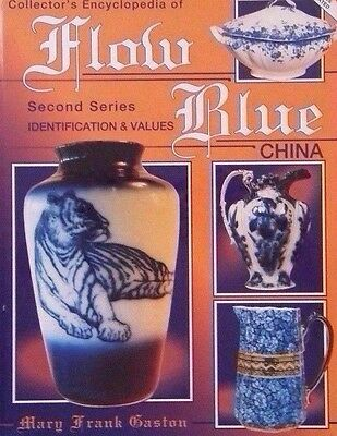 FLOW BLUE ENCYCLOPEDIA PRICE GUIDE BOOK dish bowl pitcher plate chamber pot cup