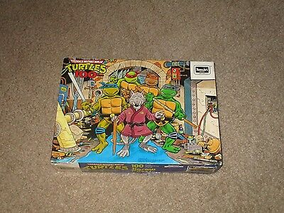Vintage 1987 Rose Art Teenage Mutant Ninja Turtles 100 Pc Puzzle Splinter