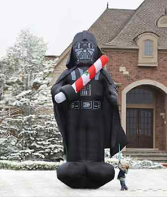 Christmas Inflatable Star Wars Colossal 16' Darth Vader w/ Light Saber