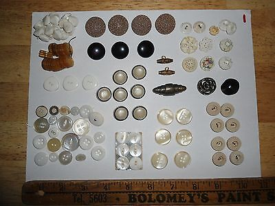 Vintage Button Lot 1 - Mixed Materials - Used & NOS