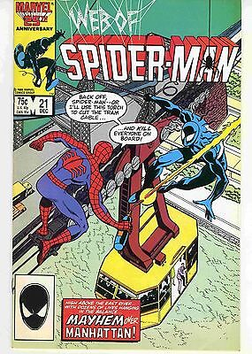 Web of Spider-Man #21 December 1986 Marvel Comics