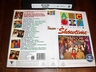 VHS VIDEO TAPE ~  ABC for Kids ~ Showtime Live in Concert