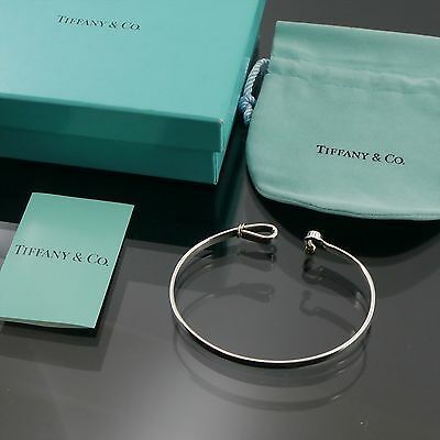 Authentic Tiffany & Co. HOOK & EYE Bangle 925 Sterling Silver #f11806