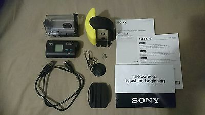 SONY HDR-AS20 Action Cam Camera Waterproof  with Hard Case and Accessories