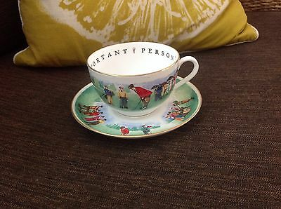 Royal Worcester Golfer Very Important Person Jumbo Tea cup