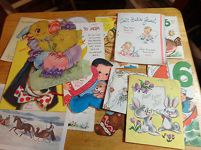 Vintage Birthday ,easter, Cards Lot Of 15