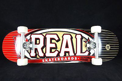 Skateboard Real Complete SAF Titanium Trucks Renewal Abec 9 Bearings Grizzly