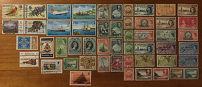 Bermuda - 51 Assorted Postage Stamps