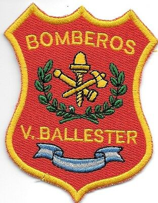 "*NEW*  V. Ballester Bomberos (3"" x 4.25"" size) fire patch"