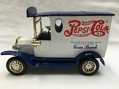 Pepsi Cola Die Cast Delivery Truck Coin Bank without key (Collectable)