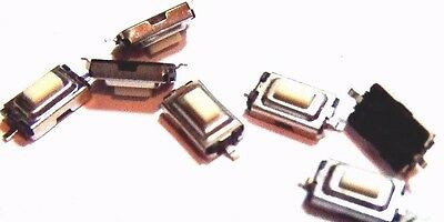 10x 2 Pin Tactile Push Button Tact Switch Micro Switches   SMD 6x4x3mm
