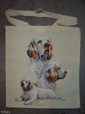 Clumber Spaniel Dogs on  A Tote Canvas Shopping Bag