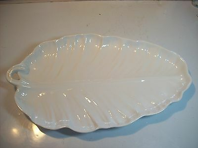 """Neuwirth HUGE 19"""" White Leaf Serving Platter Plate Dish Made in Portugal"""