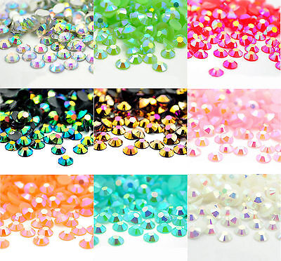 4000Pcs Half Round Acrylic Crystal Flat Beads For Craft / Nail Art 3mm 24g