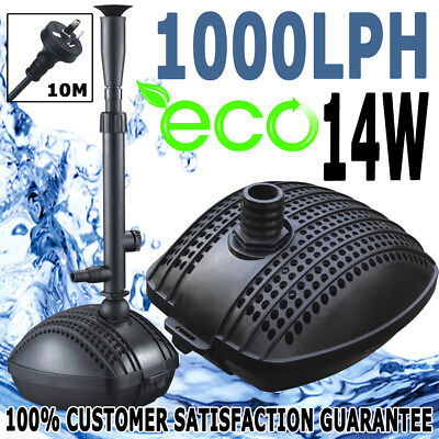 Submersible Aqua Fountain Pond Marine Eco Water Pump 1000LPH Plus Fountain Kit
