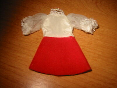 Dawn Doll? Will Fit. White and Red Dress in good Condition