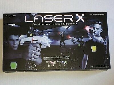 LASER X Two Player Real-Life Laser Gaming Experience - 2 Blasters 2 Vests - NEW