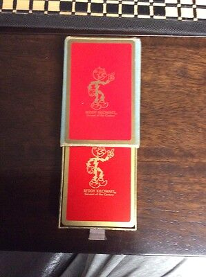 Vintage Reddy Kilowatt Electric Utilities Playing Cards In Velvet Case!