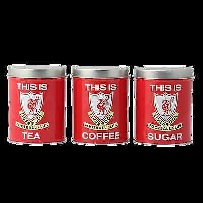 Liverpool FC  LFC This Is Anfield Tea Coffee Sugar Cannisters Official