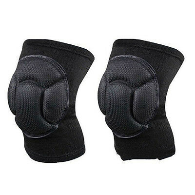 1 Pair Comfort Skiing Football Cycling Knee Protector Sports Safety Kneepads LU