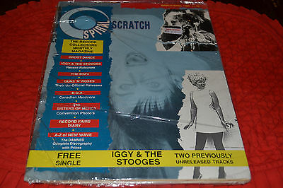 "Spiral Scratch Magazine #5 Iggy Pop & Stooges 7"" Vinyl Single Unreleased Track"