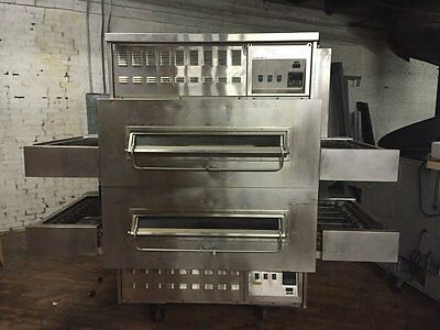 """Middleby Marshall 32"""" Nat Gas 2 Deck Conveyor Pizza Oven"""