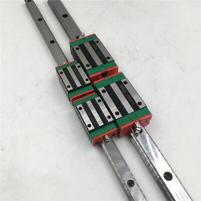 HIWIN 25mm Linear Guide Rail HGR25 L-2000mm&2pc HGH25CA Rail Block Carriage CNC