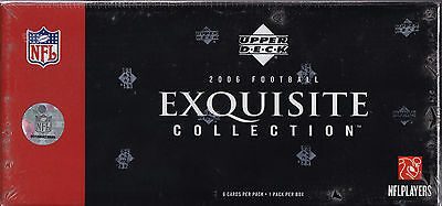 NFL - 2006 Exquisite Collection Football Card Sealed Hobby Box (Upper Deck) #NEW