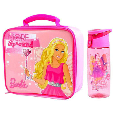 Barbie - More Sparkle Lunch Bag & Tritan Drink Bottle *BRAND NEW*