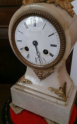 Ornate french mantel clock with glass dome makers mark