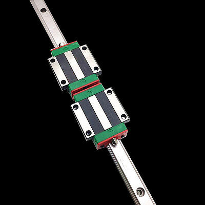 HGR15 1000mm Long HIWIN Linear Rail Guide & 2pc HGW15CC Rail Block Carriage CNC