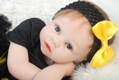 "Bambole 22"" Reborn Baby Doll Lifelike Soft Vinyl Real Life Playmate Batman"