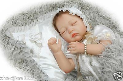 "22"" Sleeping Real Life Like Reborn Baby Dolls Silicone Newborn Doll Toys Gift"