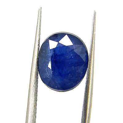 Certified Natural 4.91 Ct Blue Sapphire Loose Oval Gemstone - 117131