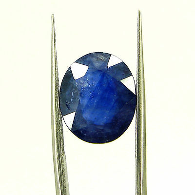 Certified Natural 5.89 Ct Blue Sapphire Loose Oval Gemstone - 117198